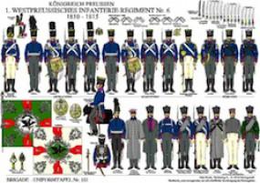 Tafel 151: Königreich Preußen: 1. Westpreußisches Infanterie-Regiment No.6 1810-1815