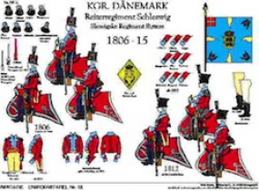Tafel 18: Königreich Dänemark: Reiter-Regiment Schleswig 1806-1815
