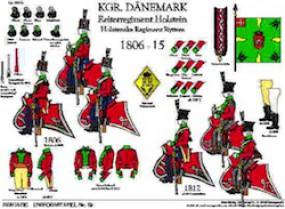 Tafel 19: Königreich Dänemark: Reiter-Regiment Holstein 1806-1815