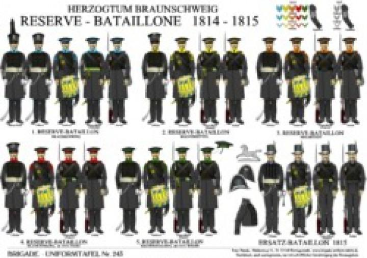 Tafel243: Herzogtum Braunschweig: Reserve-Bataillone 1814-1815 / Ersatz-Bataillon 1815