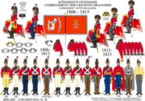 Tafel 26: Königreich Dänemark: Leibregiment der leichten Dragoner 1806-1815