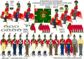 Tafel 28: Königreich Dänemark: Leichtes Dragoner-Regiment Jütland 1806-1815