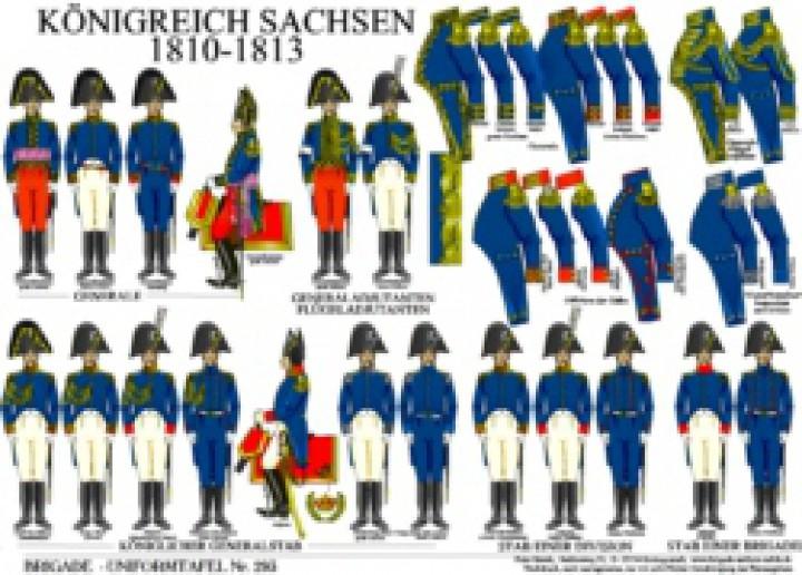 Tafel 293: Königreich Sachsen: Generale und Stäbe 1810-1813