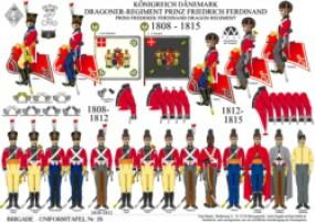 Tafel 29: Königreich Dänemark: Leichtes Dragoner-Regiment Prinz Friedrich Ferdinand 1806-1815