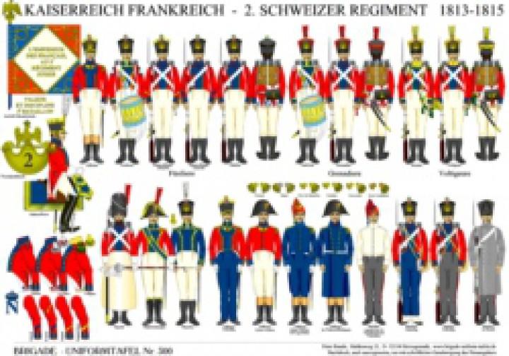 Tafel 300: Kaiserreich Frankreich: 2. Schweizer Regiment 1813-1815