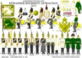 Tafel 304: Kaiserreich Russland: Kürassier-Regiment Astrachan 1812