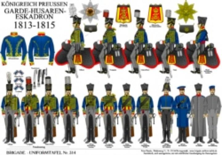 Tafel 314: Königreich Preußen: Garde-Husaren-Eskadron 1813-1815