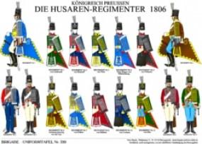 Tafel 320: Königreich Preussen: Husaren-Regimenter 1806