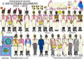 Tafel 323: Königreich Neapel: 8. Infanterie-Regiment 1812-1815