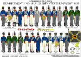 Tafel 332: Königreich Preußen: Elb-Regiment 1813 / 26. Infanterie-Reg. 1815
