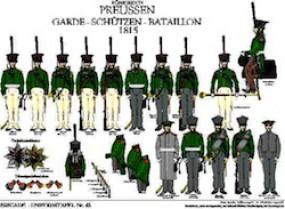 Tafel 43: Königreich Preußen: Garde-Schützen-Bataillon 1815-1825