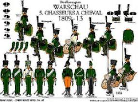 Tafel 47: Großherzogtum Warschau: 5. Chasseurs à Cheval 1809-1813