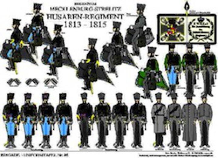 Tafel 96: Herzogtum Mecklenburg-Strelitz: Husaren-Regiment